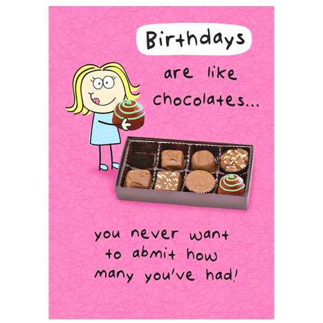 Garlanna Greeting Cards Code 50 - Humour Chocolates