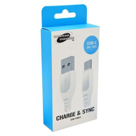 Homeware Essentials Type C USB Cable 3m