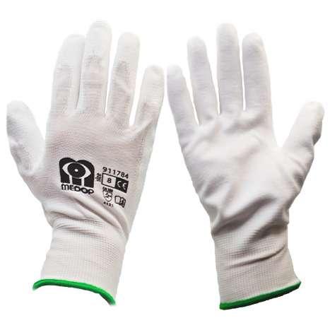 White Work Gloves - Size 8