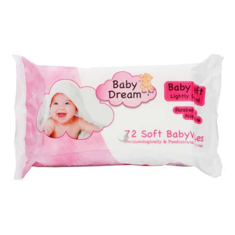 Baby Dream Lightly Scented Baby Wipes 72 Pack