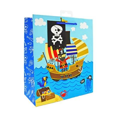 Medium Gift Bags - Pirates (21.5cm x 25.5cm)