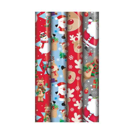 5M cute Christmas roll wrap - assorted designs