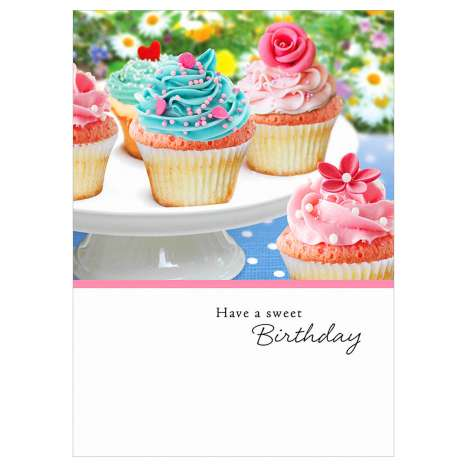 Garlanna Greeting Cards Code 50 - Cupcake Photo