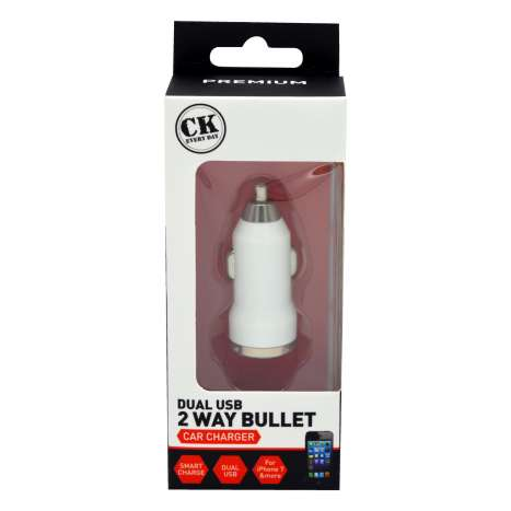Dual bullet USB car charger