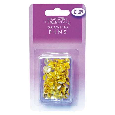 Homeware Essentials Drawing Pins 60 Pack (HE14)
