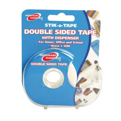Homeware Essentials Double Sided Tape With Dispenser 18mm x 10m