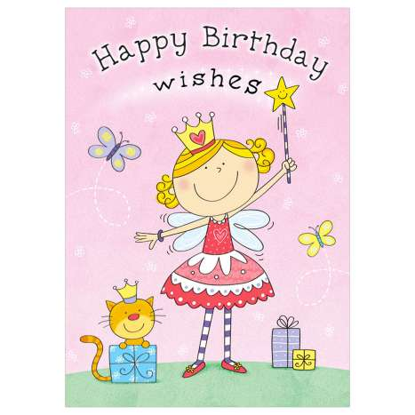 Garlanna Greeting Cards Code 50 - Kids Birthday Fairy