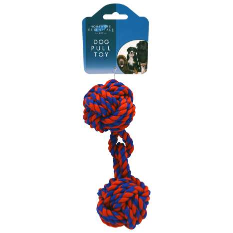 Dog pull toy - rope dumbbell