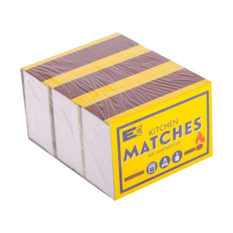 Kitchen matches 3 pack                                    (Average contents 250 per pack)