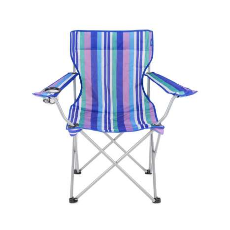 Camping chair striped with carry bag max weight 100KG/220lbs