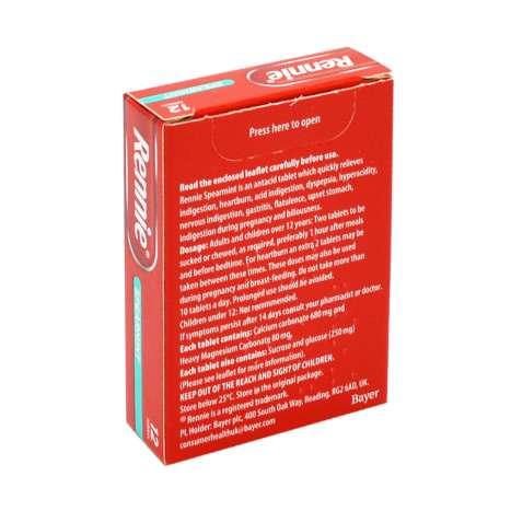 Rennie Tablets 12 Pack - Spearmint