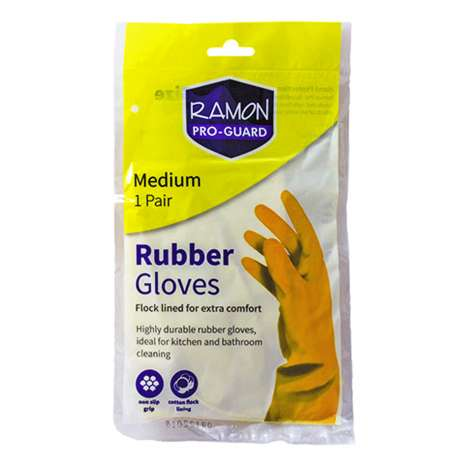 Ramon Pro Guard Yellow Rubber Gloves - Medium