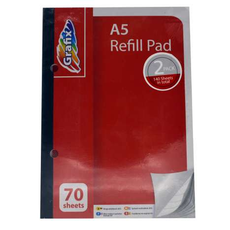 A5 Refill Pad 70 Sheet Twin Pack