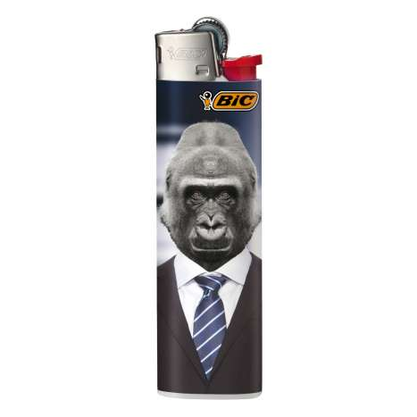 BIC Lighter J23 Decor - Slim Flint LIghter - Human Animals assorted designs