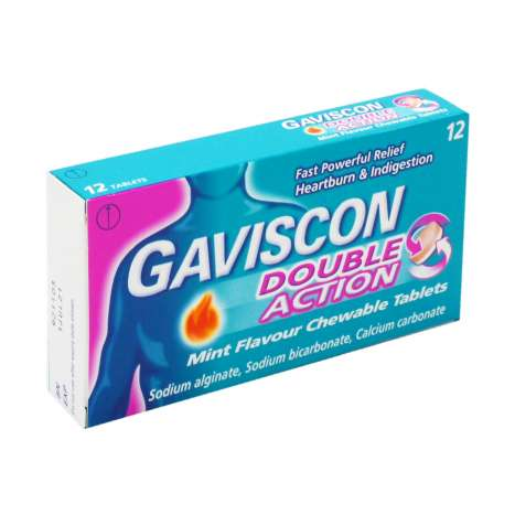 Gaviscon Double Actions Tablets 12 Pack - Mint
