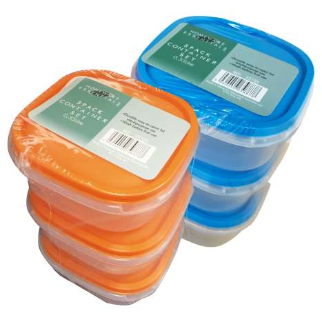 Homeware Essentials Container Set 0.33 Litre 3 Pack
