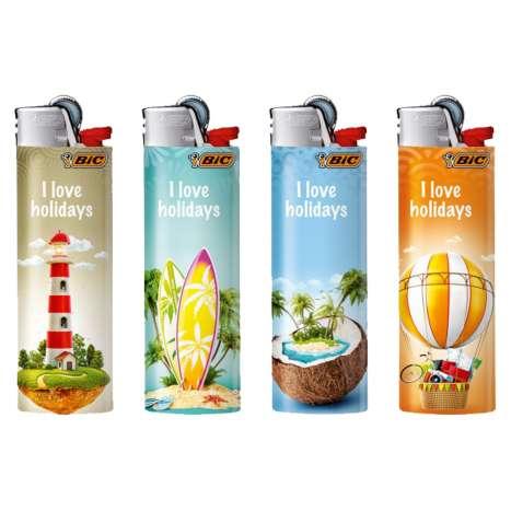 BIC Lighter J26 Decor - Maxi Flint Lighter - Holidays