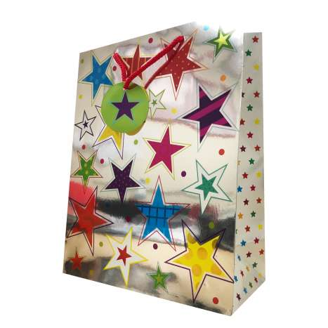 Gift bag stars LARGE 26x32cm