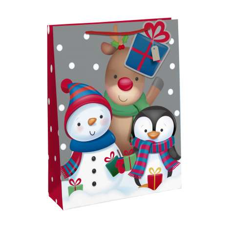 Christmas Characters Gift Bag - Medium