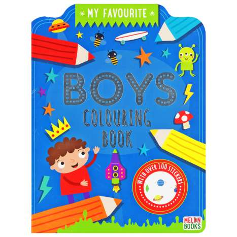 Boys Colouring Book 72 Pages + 100 Stickers