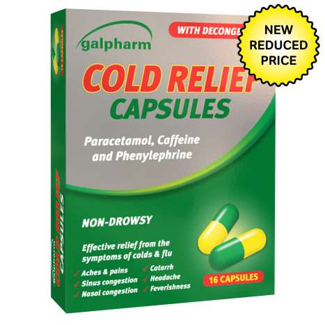 Galpharm Cold Relief Capsules 16 Pack