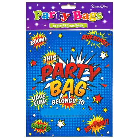 Party Loot Bags 10 Pack - Blue