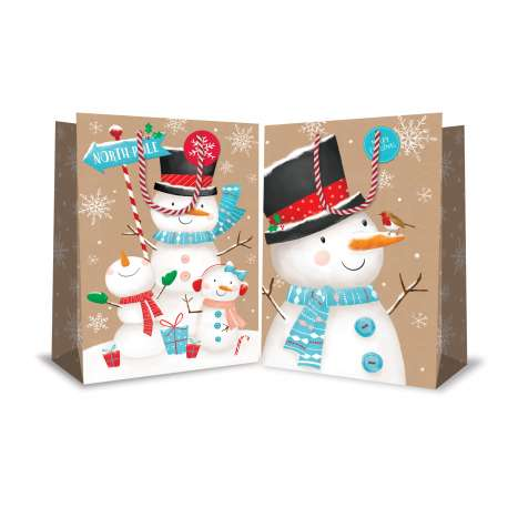 Super jumbo bag - cute snowmen