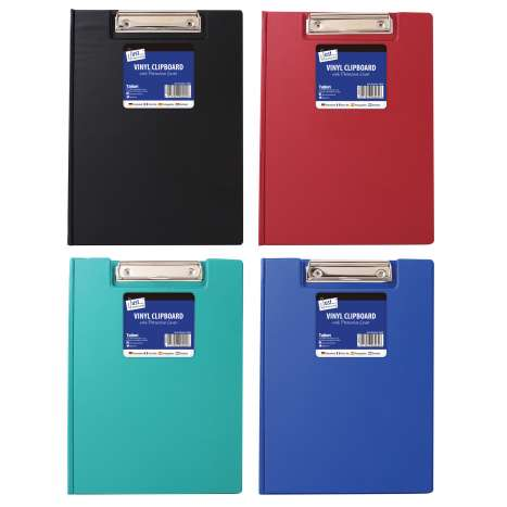 Vinyl clipboard & cover (blue/black/red/green)
