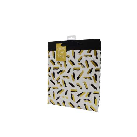 black and gold- Large gift bag