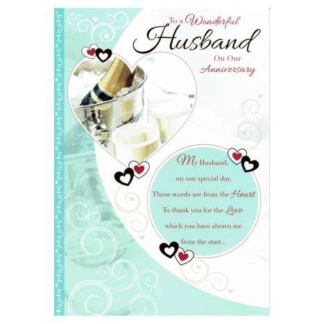 Everyday Greeting Cards Code 75 - Husband Anniversary