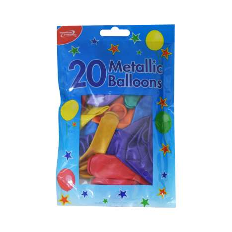 Homeware Essentials Metallic Balloons 20 Pack