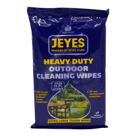 Jeyes Heavy Duty Outdoor Cleaning Wipes 9's