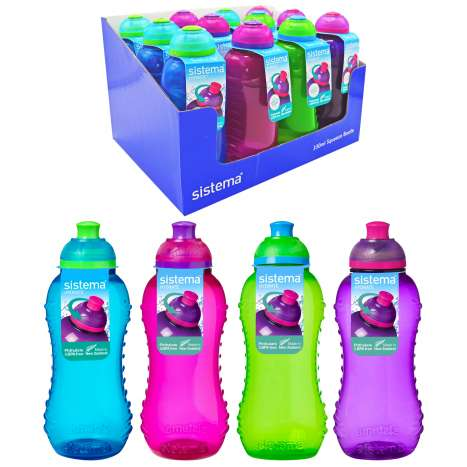 Sistema Twist & Sip Squeeze Bottle 330ml - Assorted