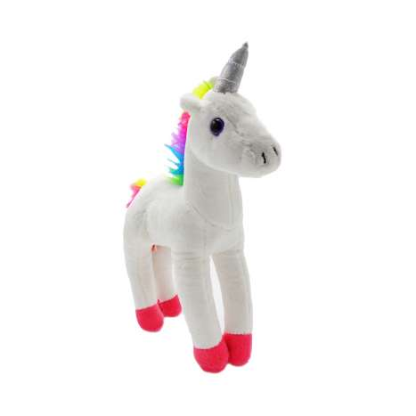 Plush Unicorn Soft Toy - White