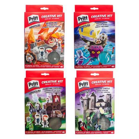 Pritt creative kit - 4 assorted design (Pritt Stick included)