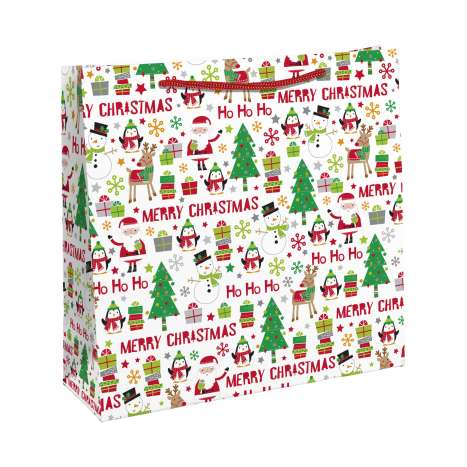 HoHoHo Merry Christmas Jumbo Shopping Bag