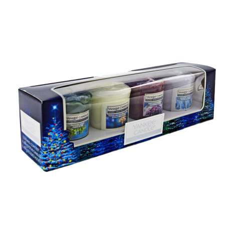 Yankee Votive Candle Christmas Gift 4 Pack