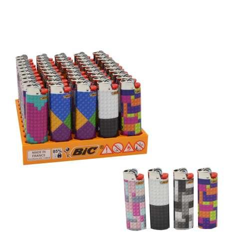 BIC Lighter J26 Decor - Maxi Flint Lighter - Brick Assorted Designs