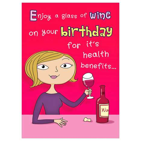 Garlanna Greeting Cards Code 50 - Humour Wine