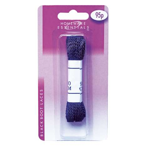 Homeware Essentials Black Boot Lace 90cm (HE03)