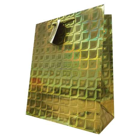 Gift bag holographic gold LARGE 26x32cm