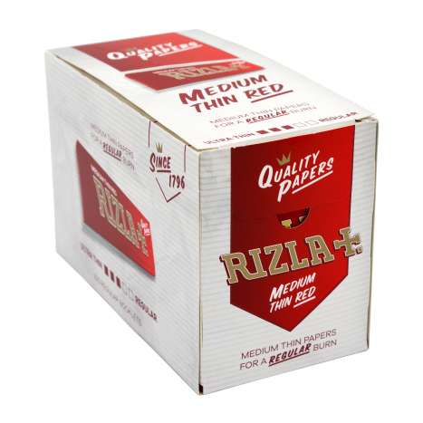 Rizla Red Medium Thin Rolling Papers 50 Pack - Regular