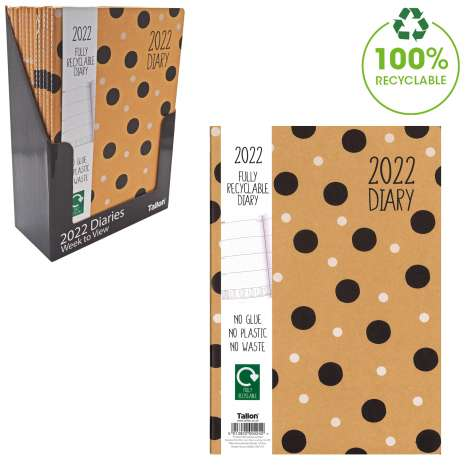 2022 A4 Fully Recyclable Diary