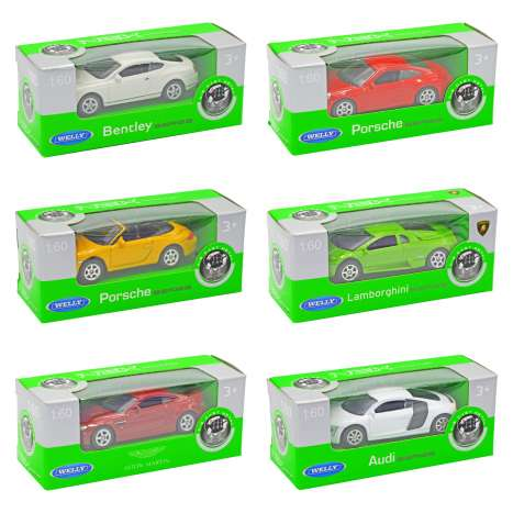 Welly 1:60 Die Cast Metal Cars - Assorted