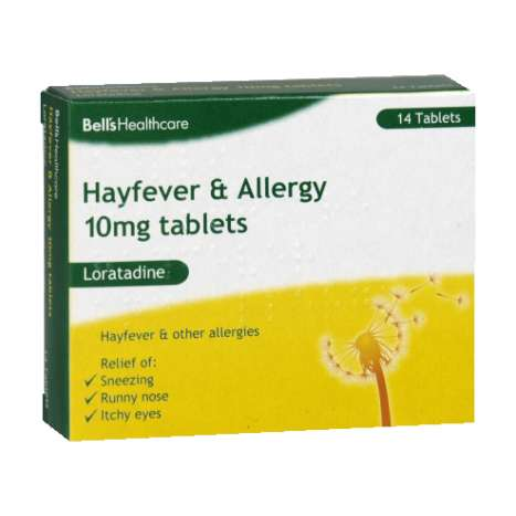 Bells hayfever & allergy relief 10mg loratadine 14s