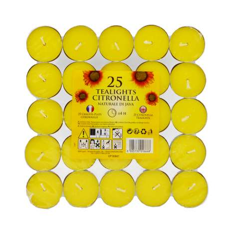 Citronella Tealight Candles 25 Pack