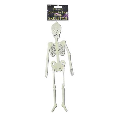 Hanging skeleton decoration glow in the dark 32cm