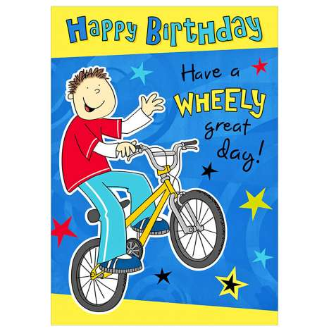 Garlanna Greeting Cards Code 50 - Birthday Wheely Great Day