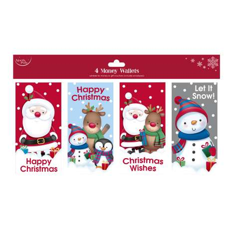 Christmas Characters Money Wallets 4 Pack