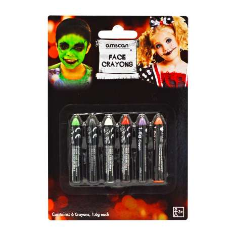 Face Crayons 6 Pack